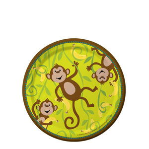 Monkeyin' Around 7 Inch Plates- 8ct