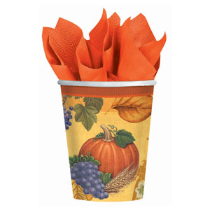 Thanksgiving Scrapbook 9 oz. Cups- 8ct