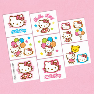 Hello Kitty Balloon Dreams Tattoo Favors- 16ct