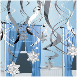 Snowflake Hanging Swirls - 30ct