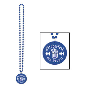 Oktoberfest Beads with Printed Medallion
