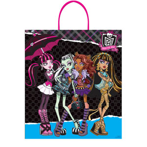 Monster High Plastic Handle Treat Bag- 16in