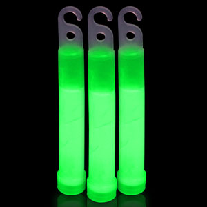 6 Inch Premium Glow Sticks - Green