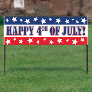 4th of July Lawn Banner
