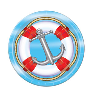Nautical Plates 9in - 8ct