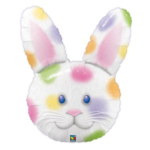 Colorful Easter Bunny Balloon - 34 Inch