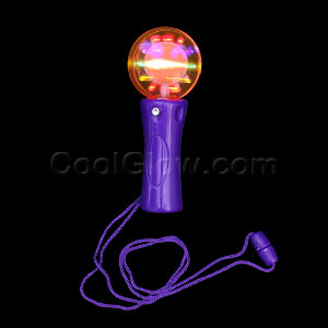 LED Mini Spinner Wand - Orange