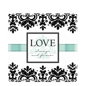 Always and Forever Square 10 Inch Plates- 8ct