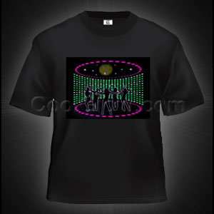 LED Sound Activated T-Shirt - Disco Dancers