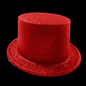 Glitter Top Hat - Red