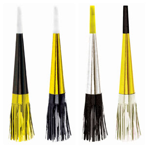 Fringe Horns- Black, Gold & Silver 16ct