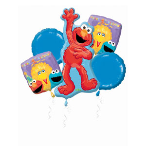 Sesame Street 1st Birthday Balloon - Bouquet