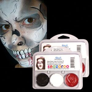 Skull Face Paint Kit