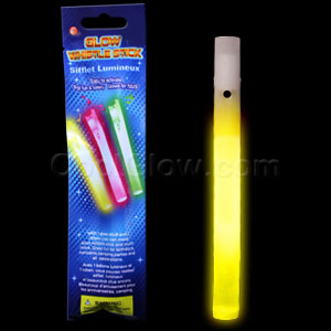 Glow Whistles 6 inch - Yellow
