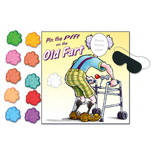 Pin the Pfft on the Old Fart Game - 19 12 inches