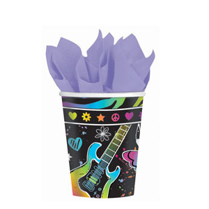 Neon Birthday 9 oz. Cups- 8ct