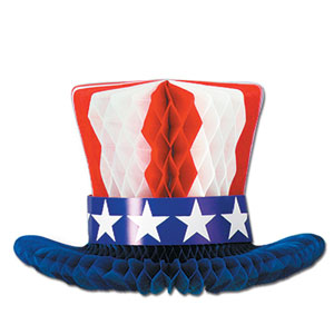 Uncle Sam Hat Centerpiece - 12in