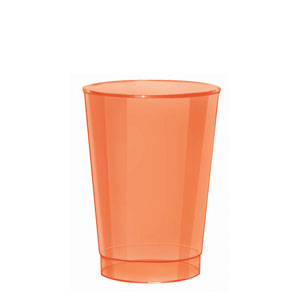 Orange 10 Ounce Plastic Tumblers- 72ct