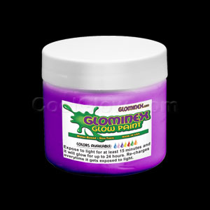 Glow Body Paint 8 oz Jar - Purple