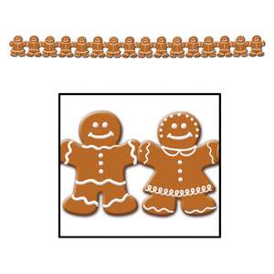 Gingerbread Man Streamer - 5ft