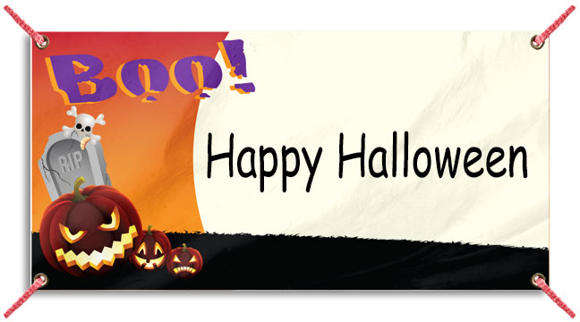 Boo and Pumpkins - Custom Banner