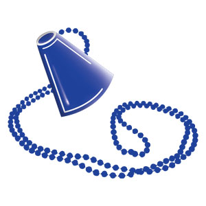 Megaphone Necklace - Blue
