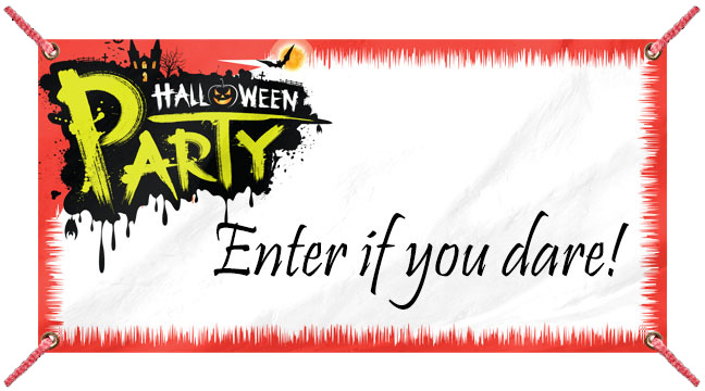 Red Halloween Party - Custom Banner