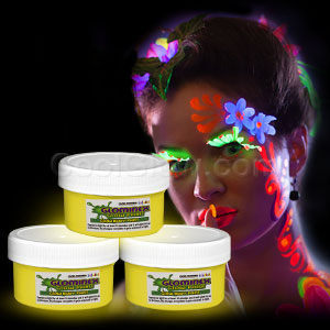 Glominex Glow Body Paint 2 oz Jar - Yellow