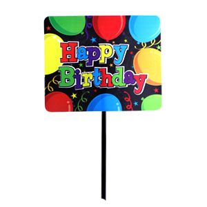 Party Yard Sign - Birthday Balloons