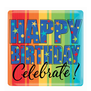 A Year To Celebrate 10 Inch Square Plates- 8ct