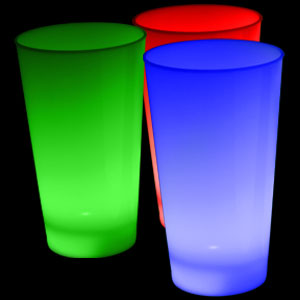 Fun Central I772 Glow in the Dark LED Light Up Cup - 16oz Multicolor