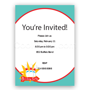 Bowling Party - Custom Invitations