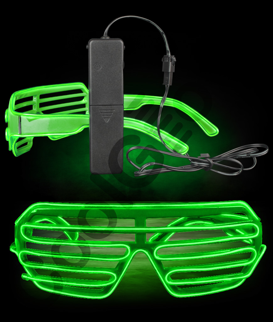 EL Shutter Slotted Shades- Green