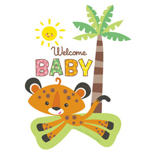 Fisher Price Welcome Baby Cutout