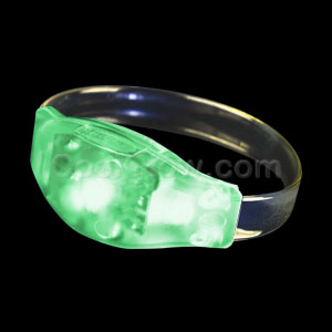 LED Sound Activated Wristband - Green