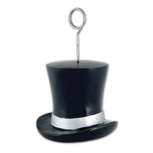 Silver Top Hat Balloon Weight - 6oz