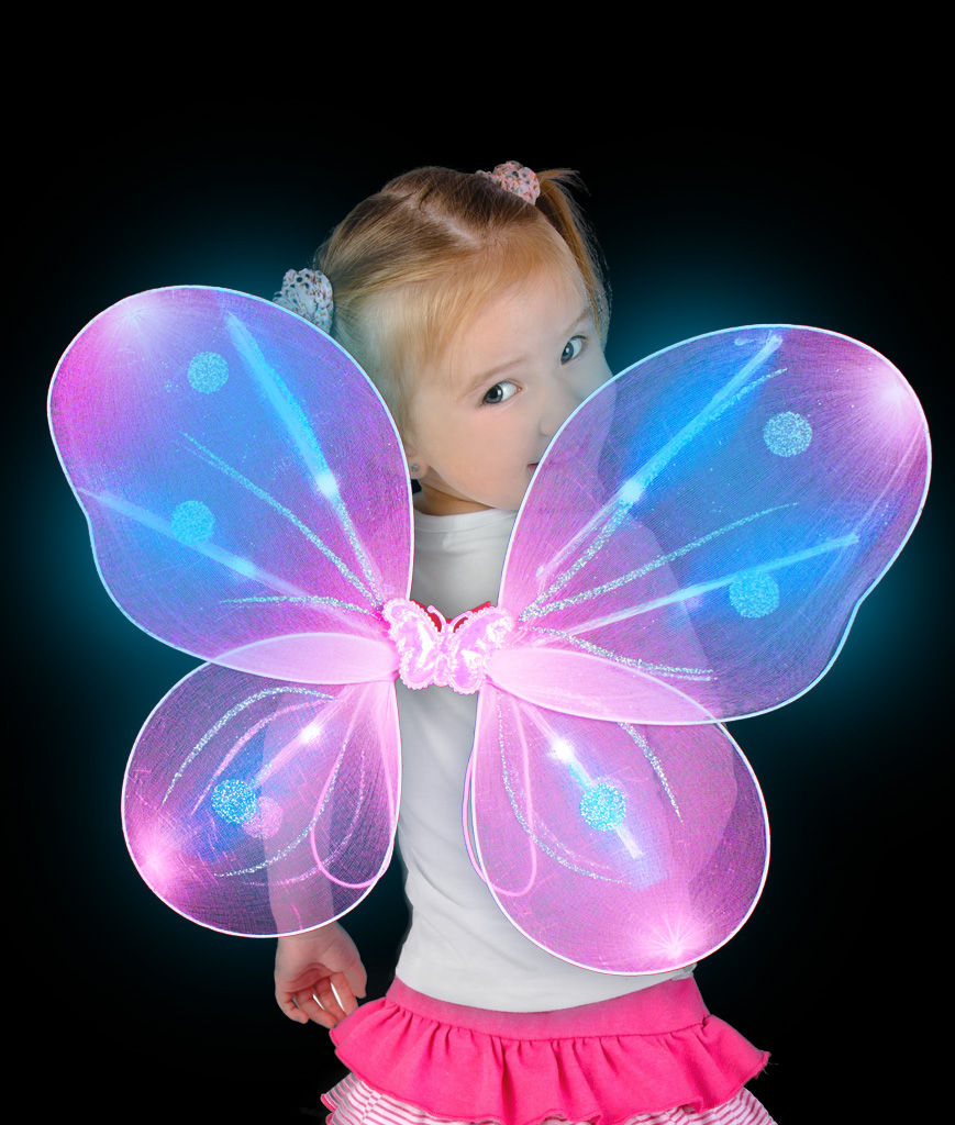 LED Butterfly Wings - Magenta