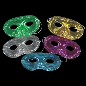 Metallic Half Masks - Assorted