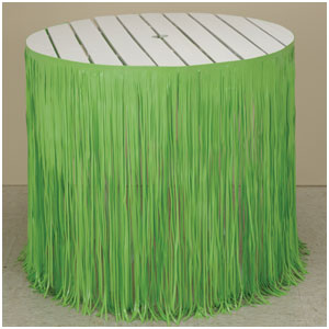 Citrus Green Fringe Tableskirt