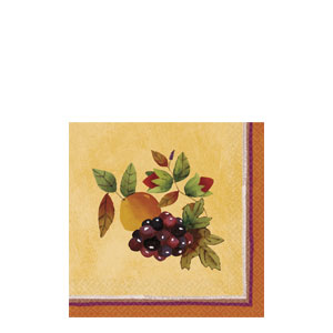 Thanksgiving Medley Beverage Napkins- 16ct