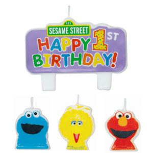 Sesame Street Molded Candle Set - 4ct