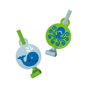 Ocean Preppy Blower Noisemakers - 8ct