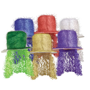 Mardi Gras Wig Hats Assorted Colors