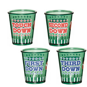 Football Shot Glass Set- 4ct