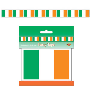 Irish Flag Party Tape- 20ft