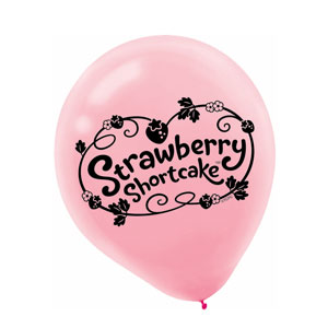 Strawberry Shortcake Latex Balloons- 6ct
