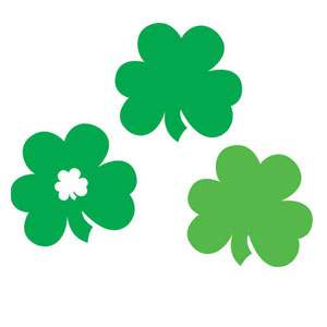 Shamrocks Plastic Cutout Assortment