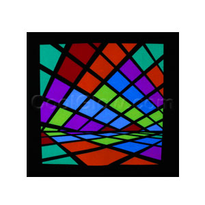 LED Sound Activated Patch - Color Blocks