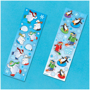 Winter Fun Stickers- 8ct