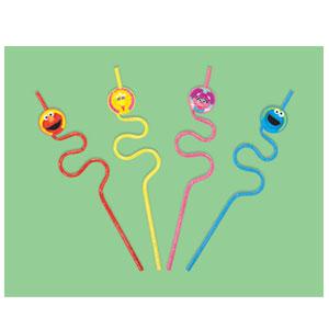 Sesame Street 1st Birthday Krazy Straws - 12ct